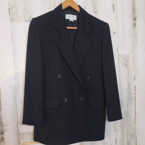 Dior Suit Separates Blazer Black Size 4